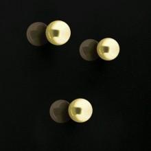 SuperDym-Magnet C5 Strong gold, vernickelt, hält bis zu 8 Blatt A4