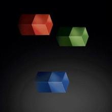 SuperDym-Magnet C5 Strong Set, vernickelt, rot, blau, grün