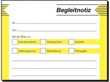 Haftformular Begleitnotiz, 50 Blatt, 100 x 75 mm, 2-farbig, rückstandslos