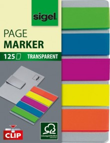 Mini Haftmarker Film, 5 Farben auf Karte mit Clip in edler Edelstahl