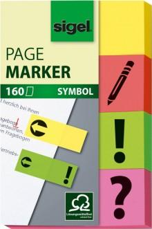 Haftmarker Pfeil Unterschrift 4 Farben im Pocket