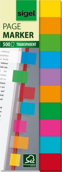Haftmarker Film Multicolor 44x12,5mm 10 Farben im Pocket