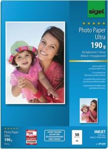 InkJet-Ultra-Photo-Papier A4 190g superweiß hochglänzend