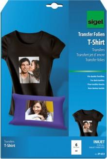 InkJet Transfer T-Shirt Folie A4 f.dunkle Textilien inkl. Bügelpapier