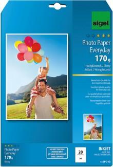 InkJet-Plus-Photo-Papier A4 170g hochglänzend weiß, 20 Blatt