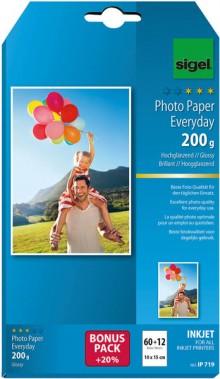 InkJet-Plus-Photo-Papier 10x15cm 200g hochglänzend weiß