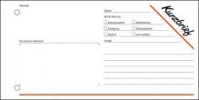 Kurzmitteilung/Kurzbrief 1/3 A4 q, 100 Blatt, mit Blaupapier