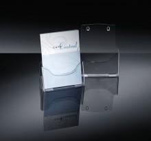 Tischprospekthalter glasklar Acryl 1 Fach A4 hoch, frei stehend oder