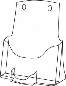 Tischprospekthalter glasklar Acryl 1 Fach A4 hoch und 1 Visitenkarten-