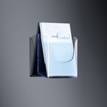 Wandprospekthalter glasklar Acryl 1 Fach A5 inkl. Schrauben u. Dübeln