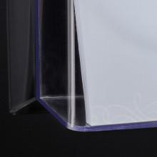 Wandprospekthalter glasklar Acryl 1 Fach A4quer, inkl. Befestigungsmat.