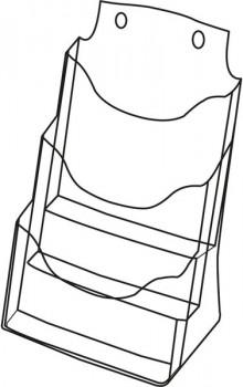Tischprospekthalter glasklar Acryl 3 Fächer A4 hoch, frei stehend oder
