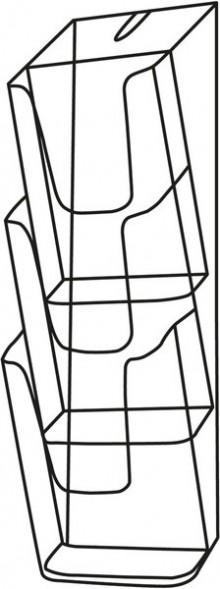 Sigel Wand-Prospekthalter 3x DIN LANG Acryl glasklar inkl. Schrauben u. Dübel