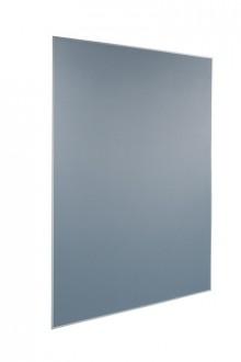 Agiles Pinboard Meet up 900x1800x17mm Stoffoberfläche, grau, beidseitig