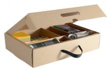 Toolkit/Moderationskoffer für agiles Whiteboard, braun, Kartonbox