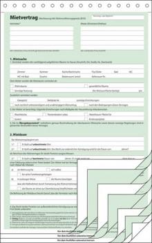 Mietvertrag A4 hoch selbdurchschreibend 4x2 Blatt