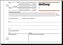 Quittung A6 quer 50 Blatt weiss mit Sicherheitsdruck u. MwSt-Nachweis