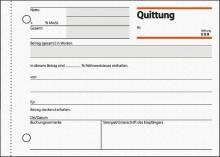 Quittung A6 quer m. Blaupapier und Sicherheitsdruck, 50 Blatt