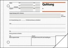 Quittung A6 quer m. Blaupapier und Sicherheitsdruck, 2x50 Blatt