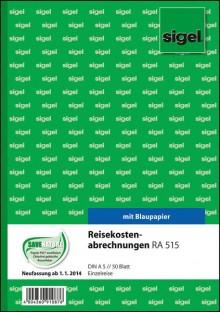 Reisekostenabrechnung A5 hoch für Einzelreisen, m. Blaupapier