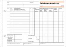 Reisekostenabrechnung A5 quer wöchentlich, m. Blaupapier