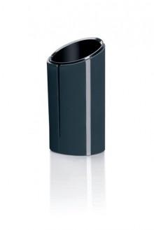 Stifteköcher Eyestyle dunkelgrau/ schwarz, Maße: 70x135x70 mm