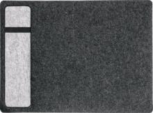 Schreibunterlage plus, Filz, casual- style, 600x7x400 mm, anthrazit/grau