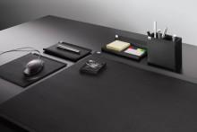 Stifteschale cintano:X schwarz Maße: 200x11x100 mm