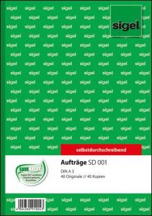 Auftrag A5hoch 2x40 Blatt weiss 1. und 2. Blatt bedruckt, sd