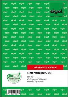 Lieferschein A5 hoch 2x40 Blatt weiß mit Empfangsschein, 1. und 2. Blatt