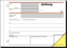 Quittung A6 quer 1.u.2.Bl. bedruckt sd, mit Sicherheitsdruck