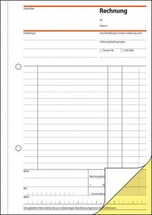 Rechnung A5hoch 2x40 Blatt weiss 1. und 2. Blatt bedruckt sd