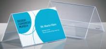 Tischaufsteller Dachform glasklar für 100 x 60 mm, Hartplastik