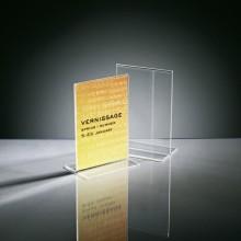 Tischaufsteller glasklar Plastik A6 hoch, gerade