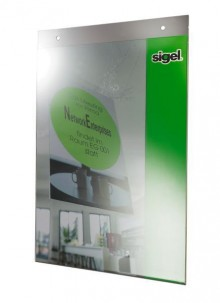 Plakattasche A4 Acryl glasklar m 2 Lochbohrungen zum Aufhängen