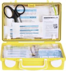 Erste-Hilfe-Koffer QUICK-CD, gelb mit Füllung Standard DIN 13157
