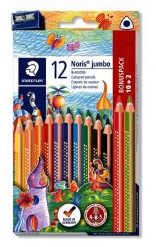 Farbstiftetui Noris triplus 128, 12er, dreikantformat, Holz, lackiert