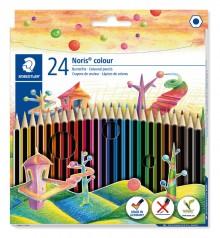Farbstiftetui Noris colour hexagonal, 24er Papp-Etui, aus WOPEX Material,