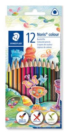 Farbstiftetui Noris colour dreikant, 12er Papp-Etui, aus WOPEX Material,