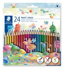 Farbstiftetui Noris colour dreikant, 24er Papp-Etui, aus WOPEX Material,