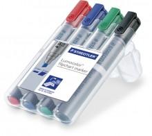 Lumocolor Flipchart marker mit Keilspitze 2-5mm, 4er