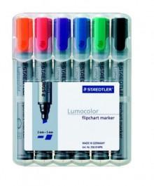 Lumocolor Flipchart marker mit Keilspitze 2-5mm, 6er