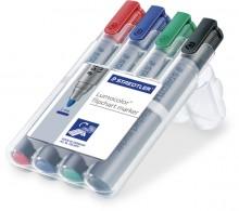 Lumocolor Flipchart marker mit Rundspitze 2mm, 4er
