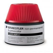 Nachfülltinte Lumocolor nonpermanent, rot, Inhalt: 15 ml