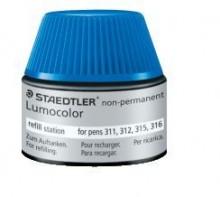 Nachfülltinte Lumocolor nonpermanent, blau, Inhalt: 15 ml