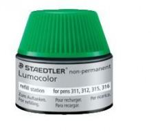 Nachfülltinte Lumocolor nonpermanent, grün, Inhalt: 15 ml