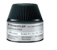 Nachfülltinte Lumocolor nonpermanent, schwarz, Inhalt: 15 ml