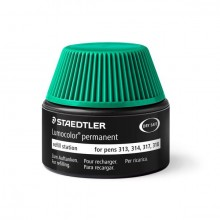 Nachfülltinte Lumocolor permanent, grün, Inhalt: 15 ml