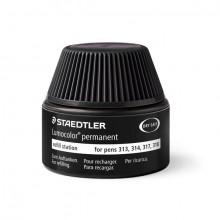 Nachfülltinte Lumocolor permanent, schwarz, Inhalt: 15 ml