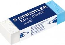 Mars Plastic Radierer combi weiß-blau